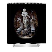 Neptune On Guard Shower Curtain