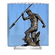 Neptune Statue In Gdansk Shower Curtain
