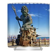 Neptune Virgina Beach  Shower Curtain