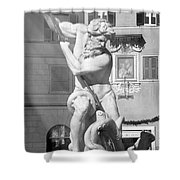 Neptune Vs Octopus - Piazza Navona In Rome Shower Curtain