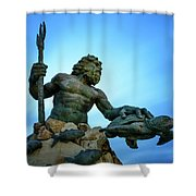 Neptune's Power Shower Curtain