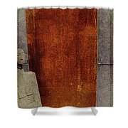 Nero Rustic Sculpture Wall Shower Curtain