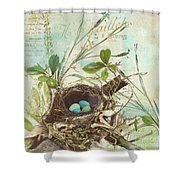 Nesting I Shower Curtain