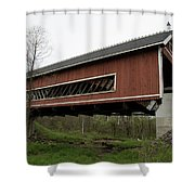 Netcher Road Covered Bridge 2 Shower Curtain