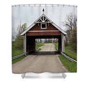 Netcher Road Covered Bridge Shower Curtain