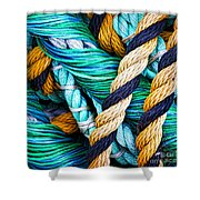 Nets And Knots Number Five Shower Curtain by Elena Nosyreva