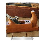 Neuenfeld Wood Plane Shower Curtain