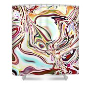 Neural Abstraction #11 Shower Curtain