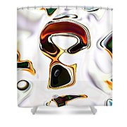 Neural Abstraction #6 Shower Curtain