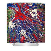 Neuronal Dendrites  Shower Curtain