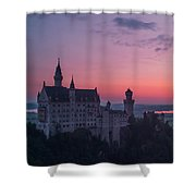 Neuschwanstein Castle Landscape Shower Curtain
