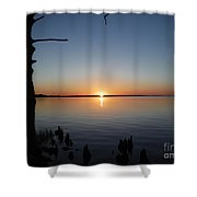 Neuse River Sunset 1 Shower Curtain