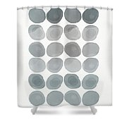 Neutral Stones- Art By Linda Woods Shower Curtain