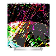 Neutrinos At Play Shower Curtain by Eikoni Images