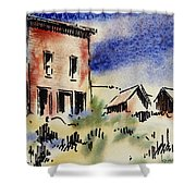Nevada Ghost Town Shower Curtain