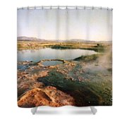 Nevada Hotspring Shower Curtain