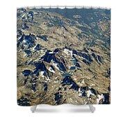 Nevada Mountain Terrain Aerial Lakes Shower Curtain