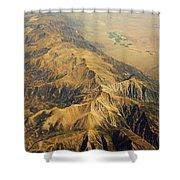 Nevada Mountain Terrain Aerial Shower Curtain
