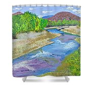 Nevada Oasis Shower Curtain
