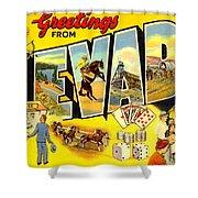 Nevada Postcard Shower Curtain