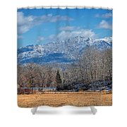 Nevada Ranch In Winter Shower Curtain