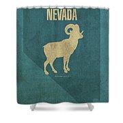 Nevada State Facts Minimalist Movie Poster Art Shower Curtain
