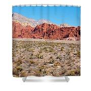 Nevada's Red Rocks Shower Curtain