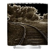 Never A Straight Path Shower Curtain