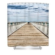 Never Ending Beach Pier Shower Curtain
