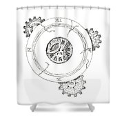 Never Enough Time Shower Curtain