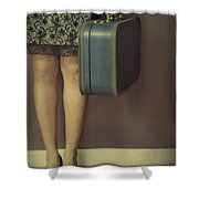 Never To Look Back Shower Curtain by Evelina Kremsdorf