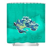 Neverland Watercolor Shower Curtain