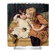 Nevermind Shower Curtain by Frederick Morgan