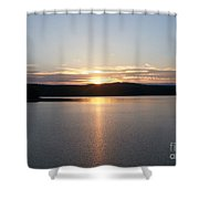 Neversink Reservoir At Sunset Shower Curtain by Kevin Croitz