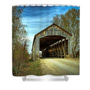 Nevins Covered Bridge Shower Curtain