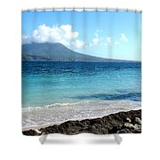 Nevis Across The Channel Shower Curtain