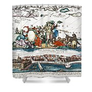 New Amsterdam, 1673 Shower Curtain