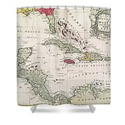 New And Accurate Map Of The West Indies Shower Curtain by American School