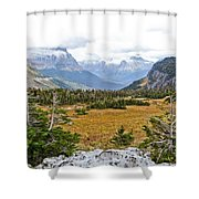 New And Old Snow Shower Curtain