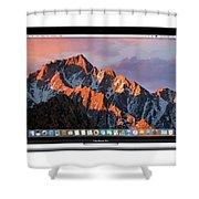 New Apple Macbook Pro Shower Curtain