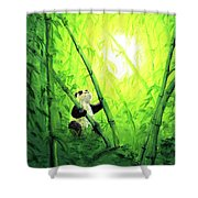 New Bamboo Leaves Shower Curtain