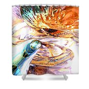New Beginnings Abstract  Shower Curtain