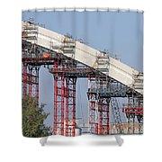 New Bridge Concrete Arc Construction Site Shower Curtain