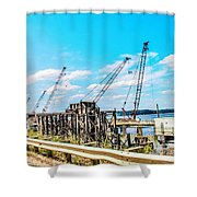 New Bridge For Canton Shower Curtain