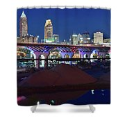 New Bridge From Along The River Shower Curtain