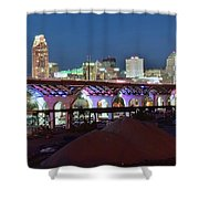 New Bridge Pano Shower Curtain