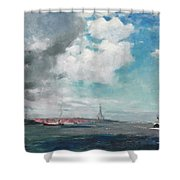 New Brighton From The Mersey Shower Curtain