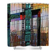 New Building Reflecting Colors Shower Curtain