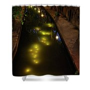 New Canal In Utrecht In The Evening 7 Shower Curtain