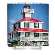 New Canal Lighthouse - Nola Shower Curtain